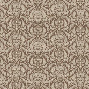 Decorative Damask- Brown