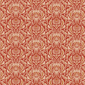 Decorative Damask- Red