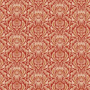 Decorative Damask- Red