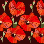 Pretty Poppies - Ebony