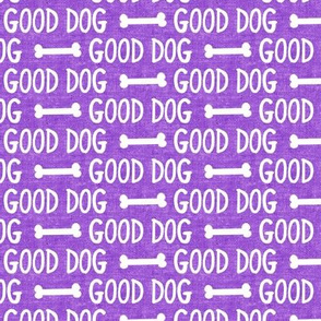good dog - purple - dog bone - LAD19
