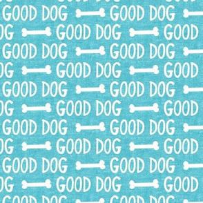 good dog - blue - dog bone - LAD19