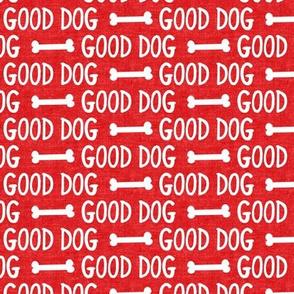 good dog - red - dog bone - LAD19