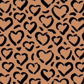 Leopard love minimal raw inky style panther print animal design cinnamon