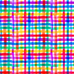 Jewel tone seventies checkered plaid
