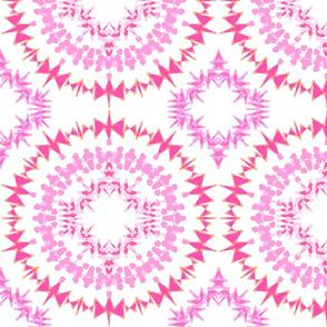 Circle Medley Pink Large Print