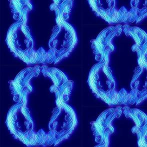 Ghost Blue Scrolls