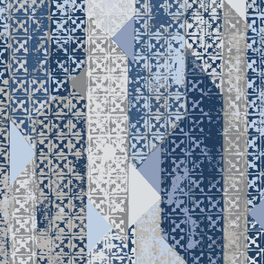 Betelline Painted Geo- Adriatic Blue
