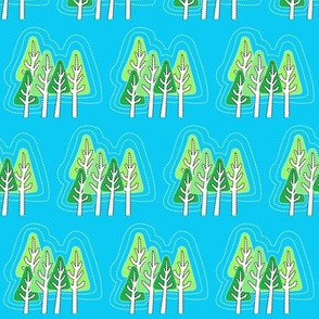 Stitched Trees Eco themed