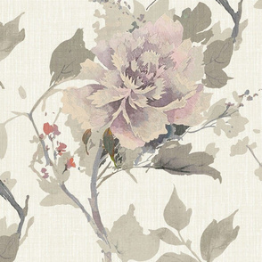Large Traditional Floral- Neutral