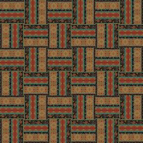 Earthy African Asian Weave 6x6