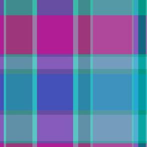 Turquoise Purple Plaid