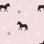 pony power (blush) // girls room + baby kids simple design