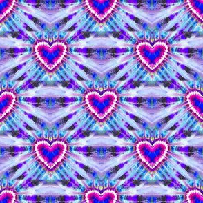 Staggered Purple Hearts