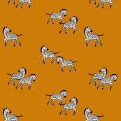 Zebras Gallop Mustard