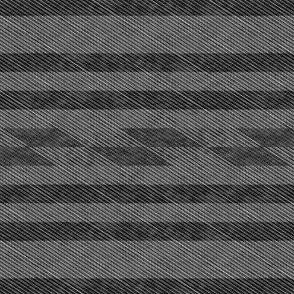 Gray Stripes & Diagonal Checkers (Small Print Size)