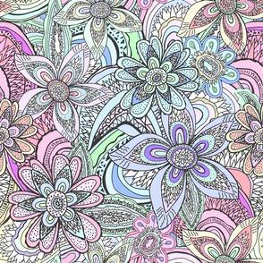 Trippy Flower Agates, pastel