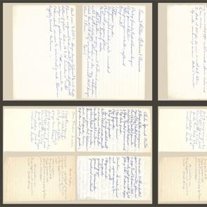 Family Heritage Tea Towel Handwritten Recipes
