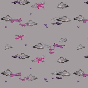 Kc-135 pink / grey