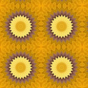 Golden Pinwheels - Large Scale