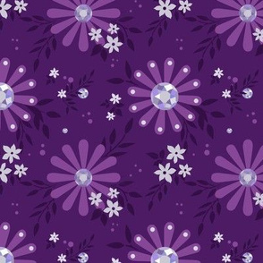 Jeweled Floral in Amethyst