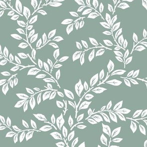 leafy stems - large - dusty teal