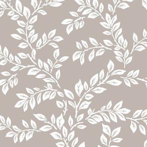 leafy stems - large - warm gray
