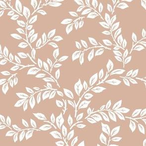 leafy stems - large - dusty peach
