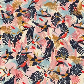 Paradise Birds Pattern / Small Scale