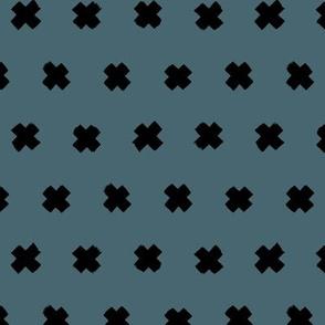 Raw brush x minimal cross plus designs abstract scandinavian style cool blue