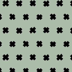 Raw brush x minimal cross plus designs abstract scandinavian style sage green