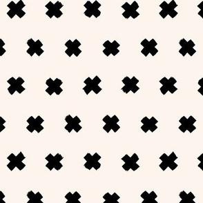 Raw brush x minimal cross plus designs abstract scandinavian style off white black