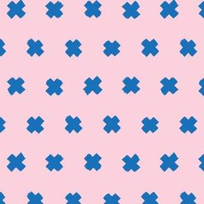 Raw brush x minimal cross plus designs abstract scandinavian style blue pink