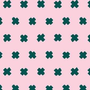 Raw brush x minimal cross plus designs abstract scandinavian style green emerald pink