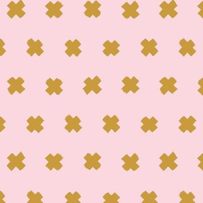 Raw brush x minimal cross plus designs abstract scandinavian style ochre yellow pink