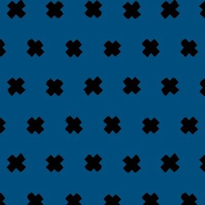 Raw brush classic blue x minimal cross plus designs abstract scandinavian style ochre yellow pink