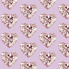 Diamond Heart Rose Gold
