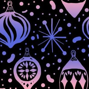 Pastel Gradient Mid-Century Christmas