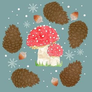 Toadstools and Pinecones
