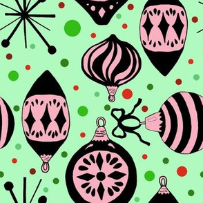 Pink and Green Mid-Century Christmas