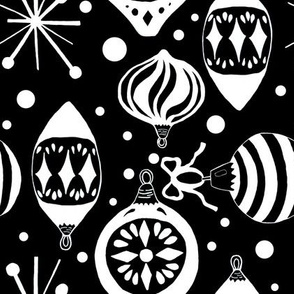 Black and White Mid-Century Christmas