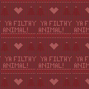Ya Filthy Animal Knit Design