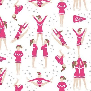 Cheerleading Stunts Pink