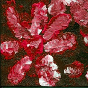 Florals In Ruby Red
