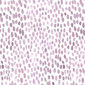 smoky lavender watercolor dots