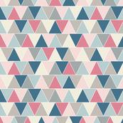 Dusty Rose Triangle Pattern