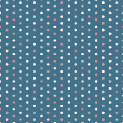 Navy Blue with Pastel Polka Dots for Dusty Rose Triangle Pattern