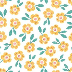 SMALL Sweet Yellow Floral
