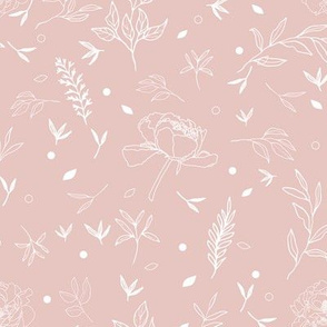 Dusky Pink Floral