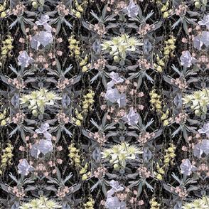 California Wildflowers Soft Pastels on Black